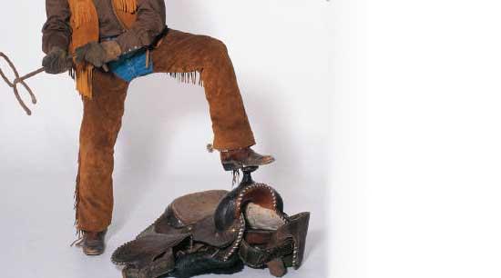 Cowboy with Branding Iron