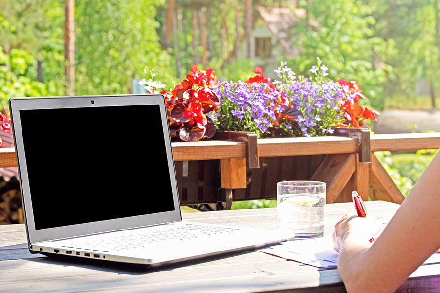 how to find writing inspiration garden